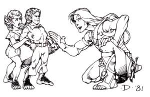 Halfling Illustration by Jeff Dee in the 1981 Expert Rulebook