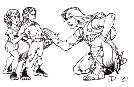 Halfling Illustration by Jeff Dee in the 1981 Expert Rulebook