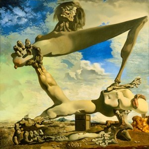 Dali's Soft Construction With Boiled Beans (a premonition of civil war). This is what I want my surreal RPGs to be like.
