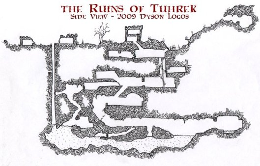 The Ruins of Tuhreak - Side View