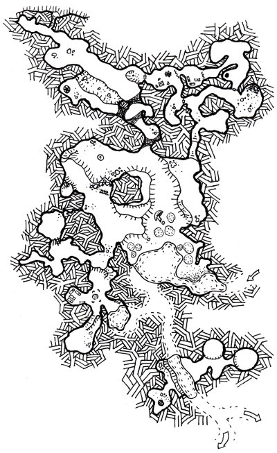 The Charmed Grotto Map