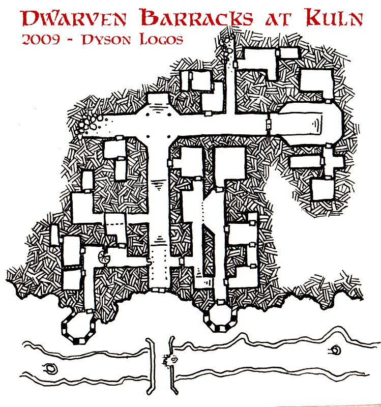 Friday Map Dwarven Barracks At Kuln Dyson S Dodecahedron