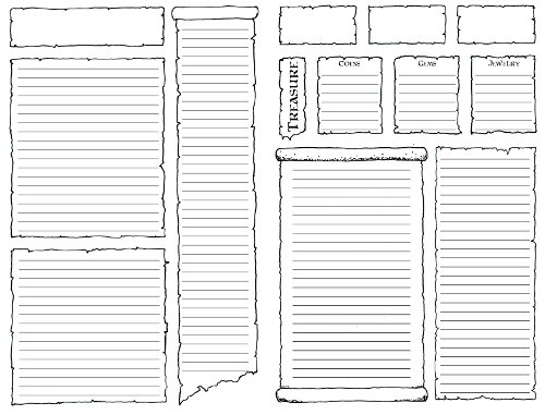 Dungeons & Dragons Character Folder - Inside Pages