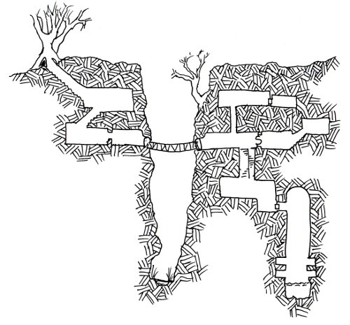 Friday Map] Goblin Gully – a deadly one-page dungeon | Dyson's