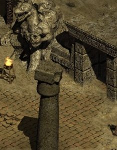 An ancient temple in the Desert of the Gods... adapted from Diablo II