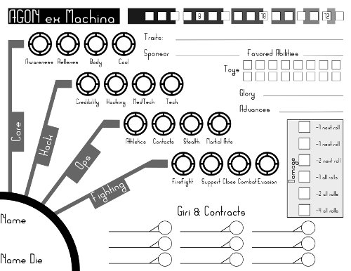 AGON ex Machina character sheet (click on image to download the PDF)