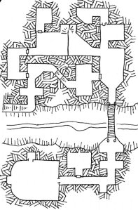 Map of the Medusa's Chasm