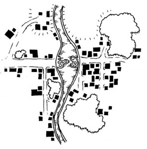 Map of Kreland's Ford - A Fantasy Village