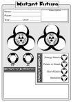 Biohazardous Character Sheet
