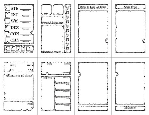 Pocketmod Labyrinth Lord Sheet