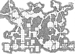 One Hour Dungeon Map
