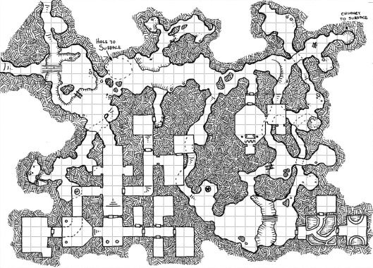One Hour Dungeon Map - Refined