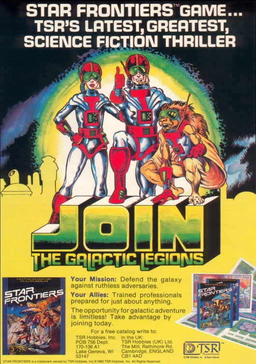 Star Frontiers - TSR's Latest, Greatest Science Fiction Thriller!