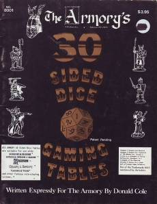 Armory 30 Sided Dice Tables
