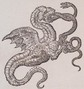 Dragon Woodcut