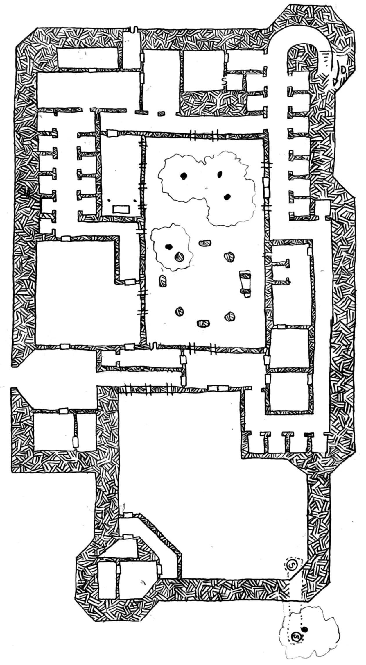 Friday Map] the Monastery of Electrum Flowers   Dyson's Dodecahedron