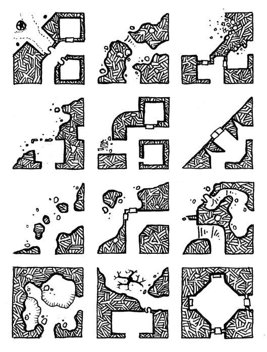 12 Corner Geomorphs - Set 1