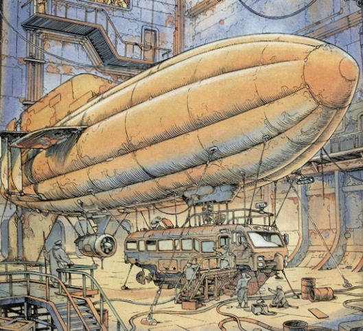 Gamma Terra Blimp by Felix Vega from Heavy Metal Magazine