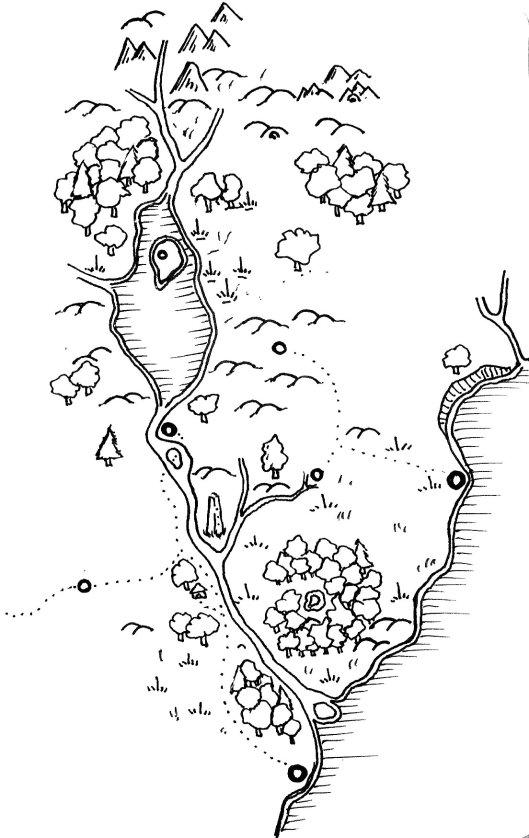 Regional Map of Lake Velth