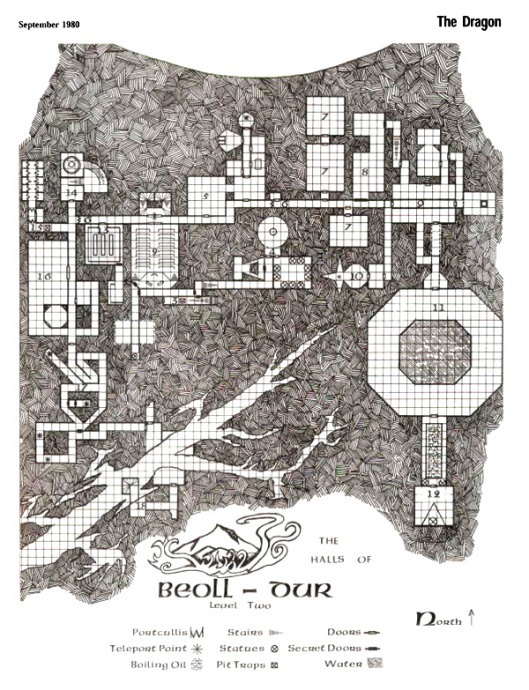 Map from Dragon Magazine #41