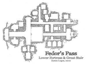 Fedor's Pass - Lower Fortress & Great Stair