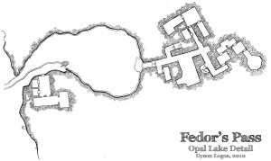 Fedor's Pass - Opal Lake Detail