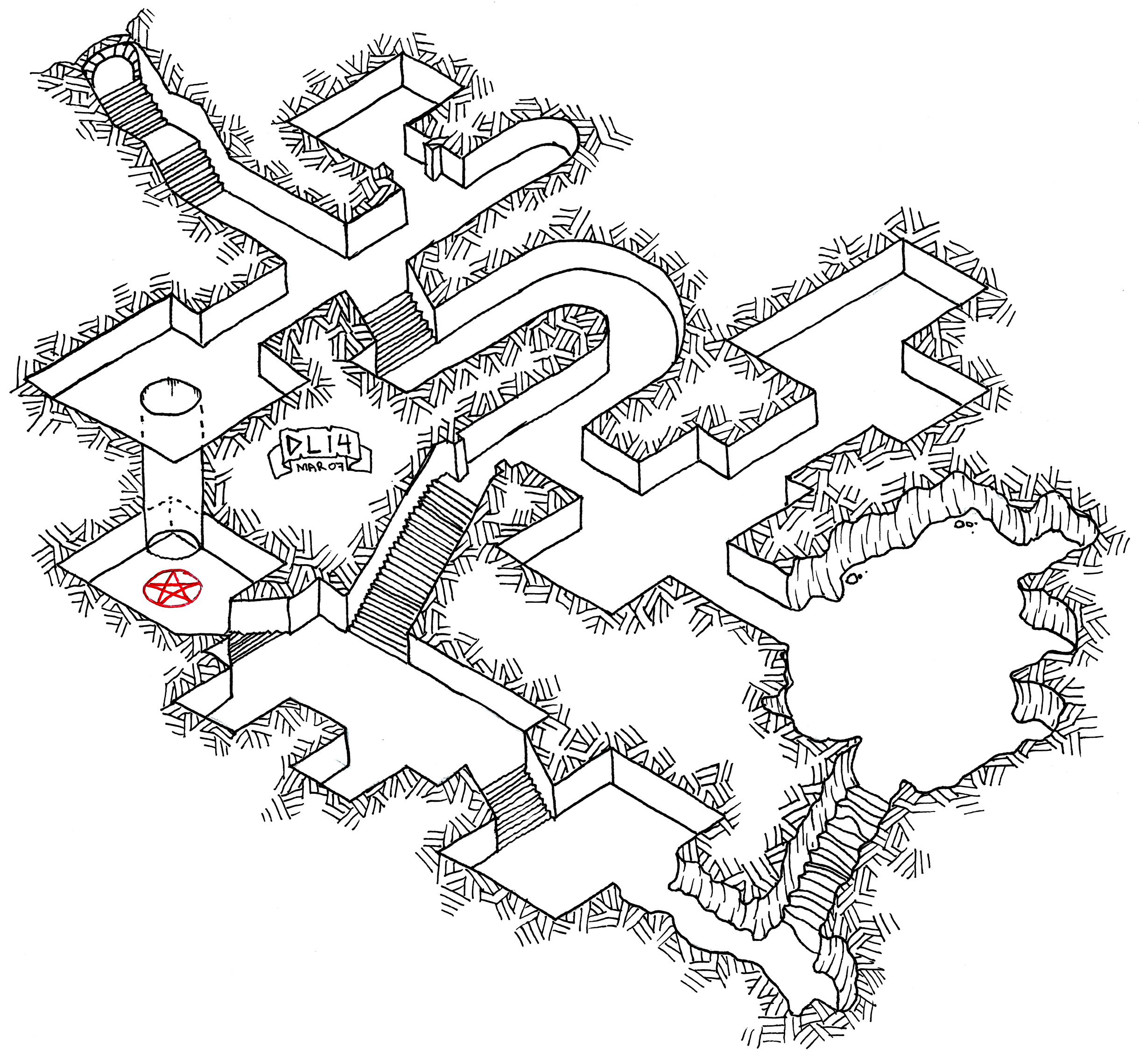 tuesday map  isometric dungeon experiment  5