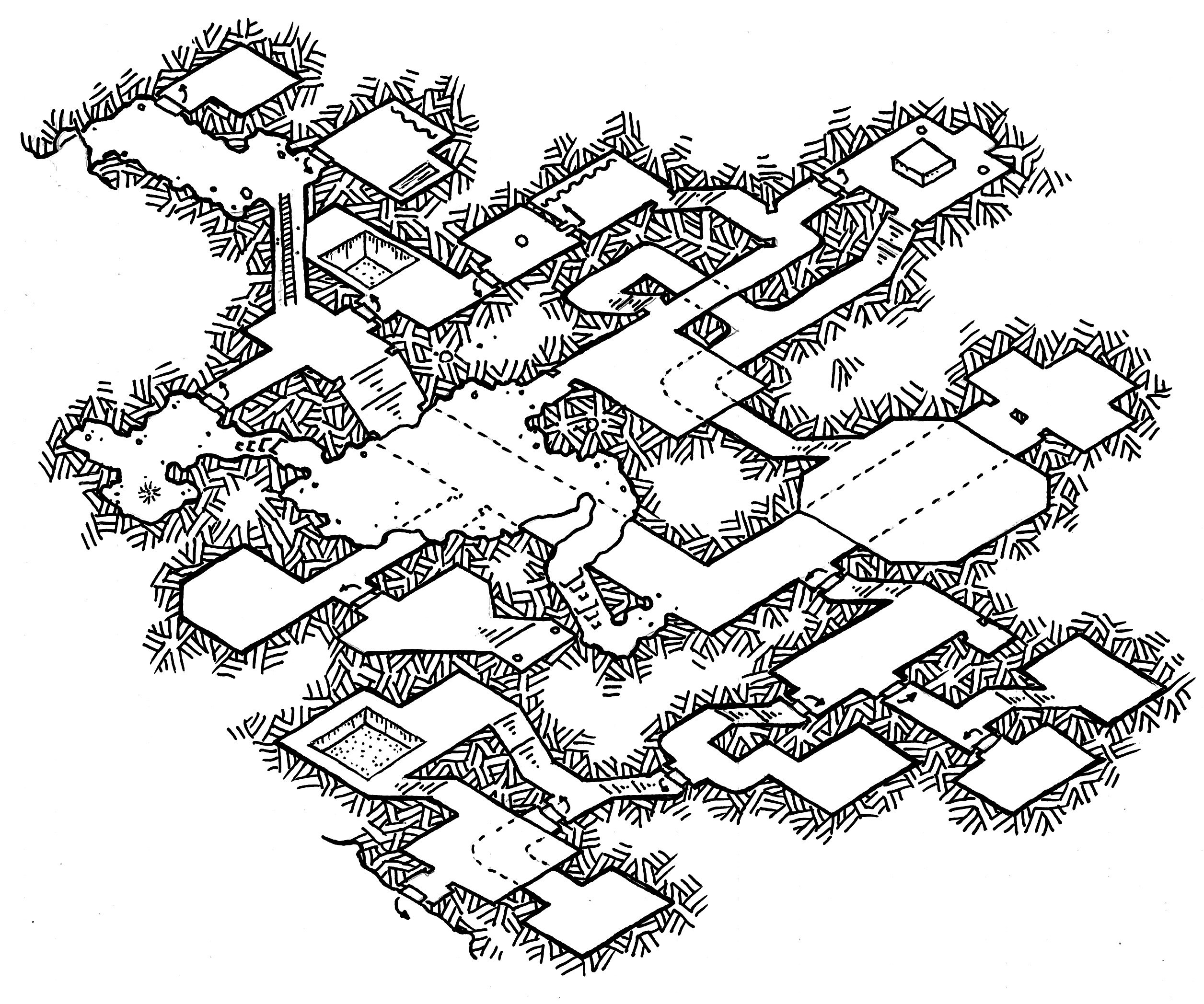 D Line Drawing Game : Friday map isometric dungeon experiment dyson s