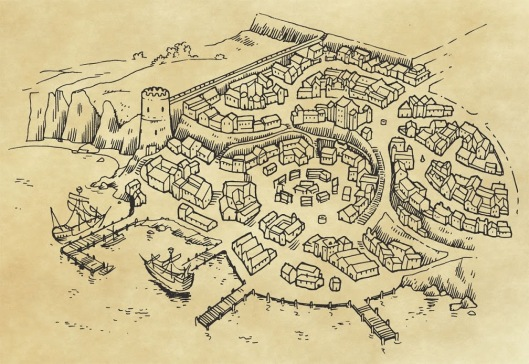 Map of Dunsport by Jason Lutes