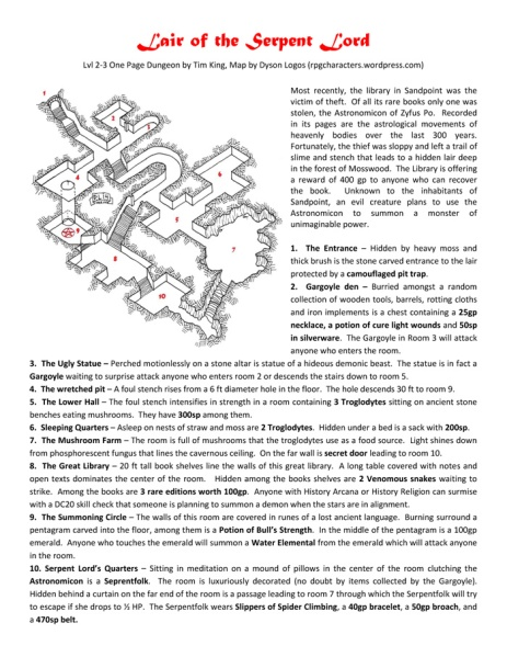 Lair of the Serpent Lord (Click for PDF)