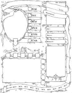 2014 Labyrinth Lord AEC Sheet (Front)