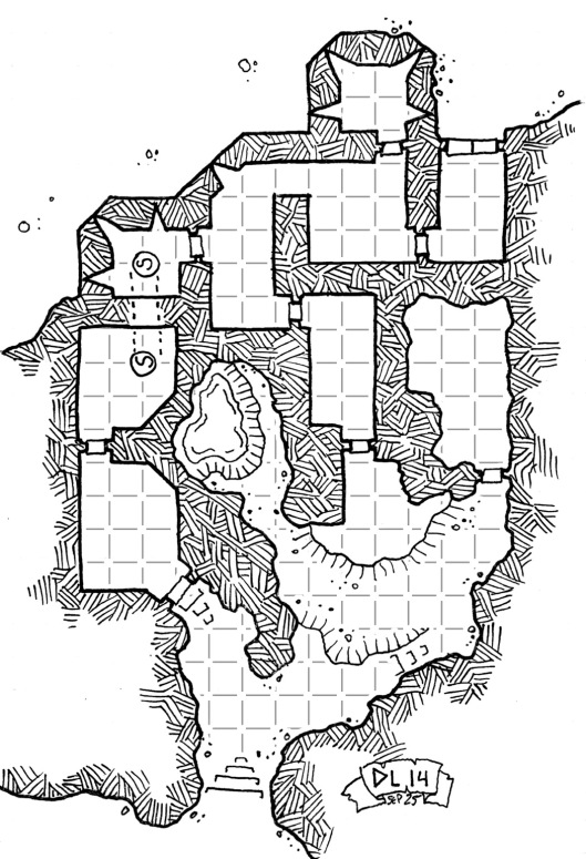 Habddar's Grey Fortress (with grid)