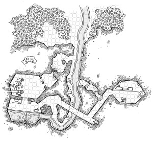 Cragmaw Hideout - Gridded