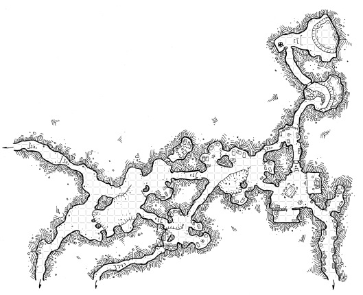 Goblin Caves (with Grid)