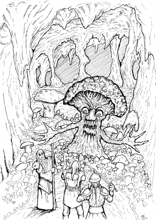 Court of the Mushroom King by Jim Magnusson