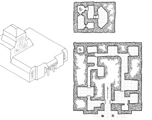 Asymmetric Temple - Topside (with grid)
