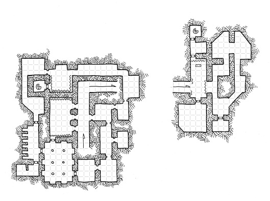 Asymmetric Temple - Underground (with grid)