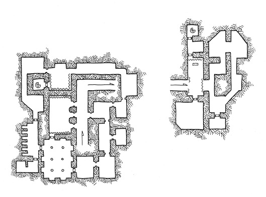 Asymmetric Temple - Underground (no grid)