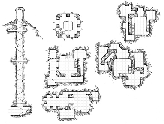 The Harpy Tower (with grid)