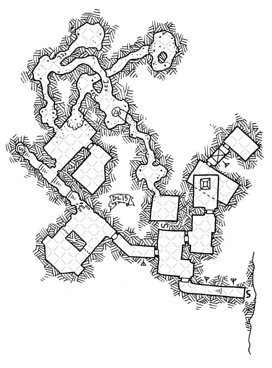 Ettin Manor Dungeons (with grid)