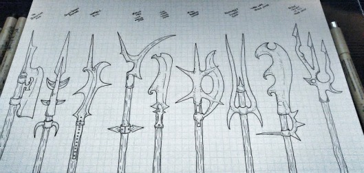 Snail Lord PoleArms Set 1