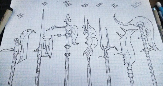 Snail Lord PoleArms Set 2