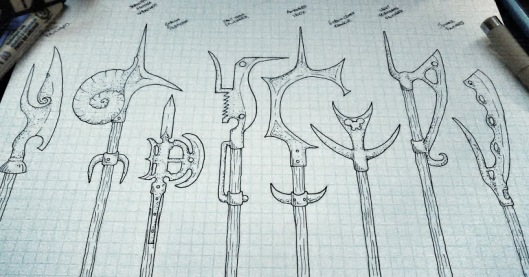 Snail Lord PoleArms Set 3