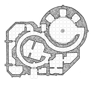 The Spiral Temple (with grid)