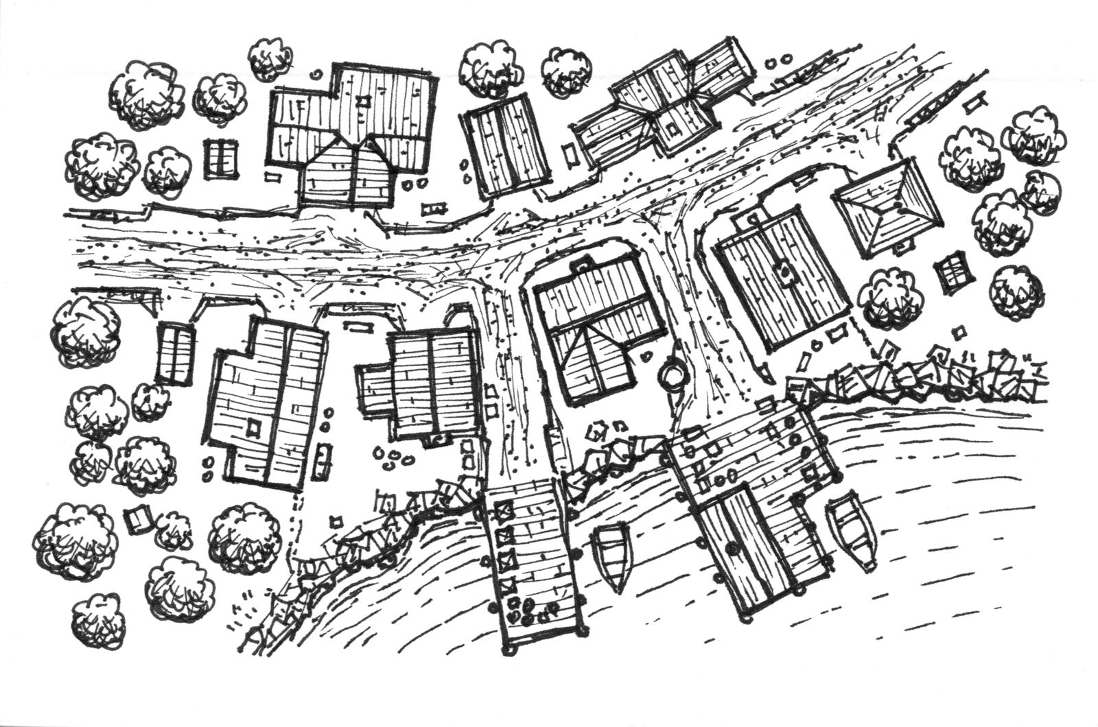 Sunday Map Kevin Campbells Village Card 1 Dysons