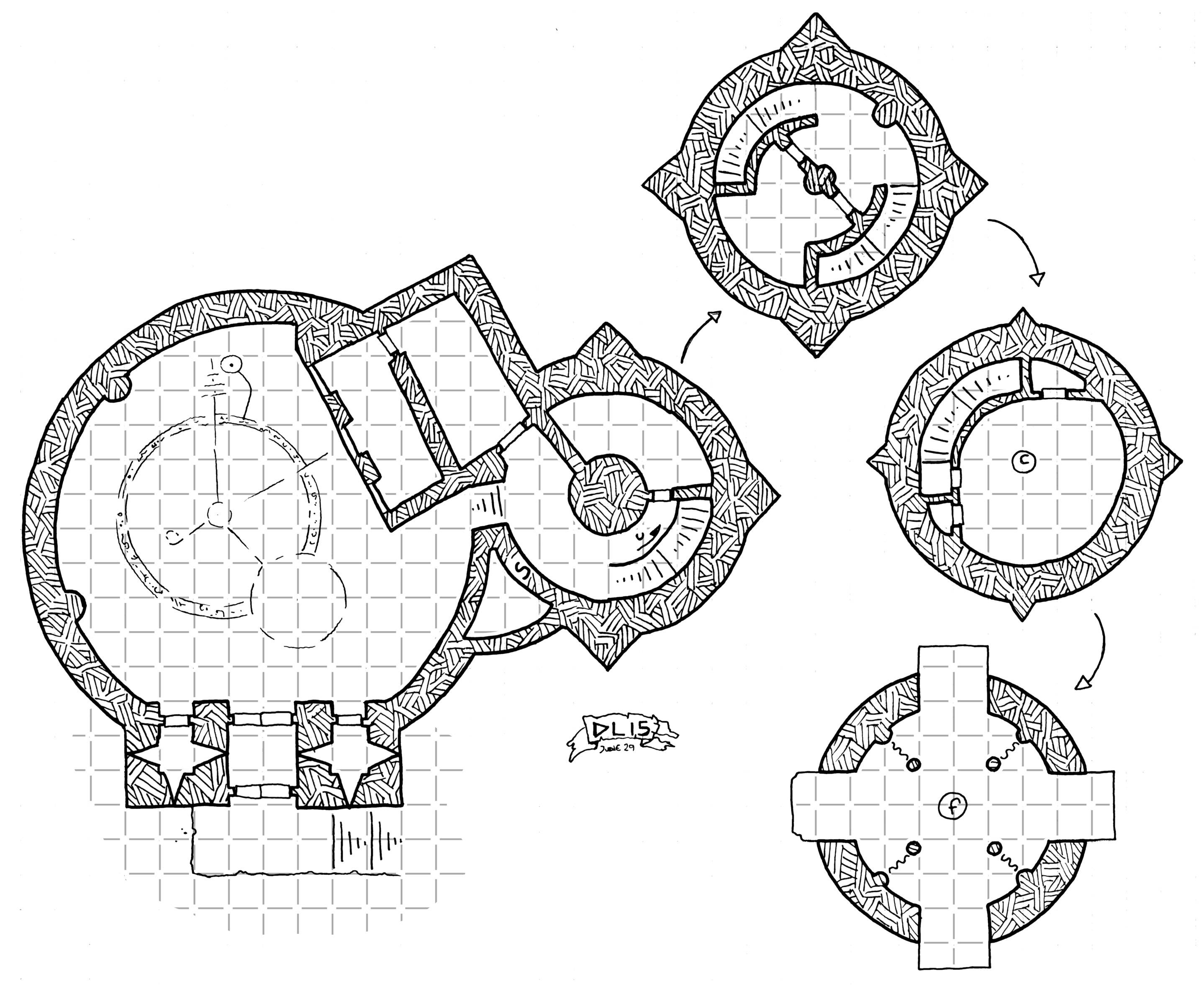 Tuesday Map] The Mad Warlock's Dome & Tower | Dyson's