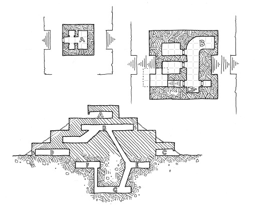 Dreaming Feather's Tomb - Upper Maps (with grid)