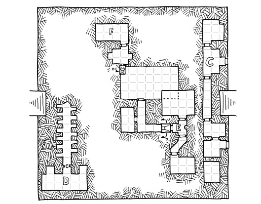Dreaming Feather's Tomb - Lower Map (with grid)
