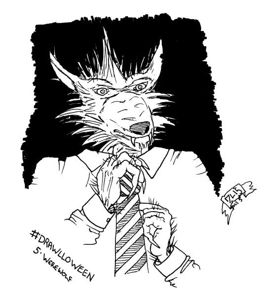 Drawlloween #5 - Werewolf