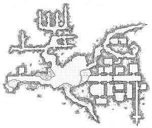 Dwarven Mines - with grid